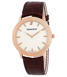 Audemars Piguet Clous De Paris 18kt Rose Gold Hand Wound Hobnail Motif Dial Men's Watch