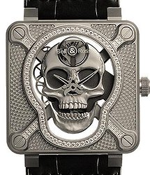 Bell & Ross BR Instrument LAUGHING SKULL LIGHT DIAMOND