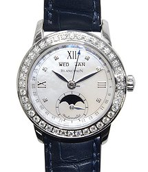 Blancpain Leman Stainless Steel & Diamonds Silvery White Automatic 2360-4691A-55B