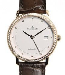 Blancpain Villeret 18kt Rose Gold & Diamonds White Automatic 6223-2987-55B