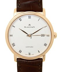 Blancpain Villeret 18kt Rose Gold White Automatic 6223-3642-55B