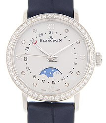 Blancpain Villeret Stainless Steel & Diamonds White Automatic 6106-4628-55A