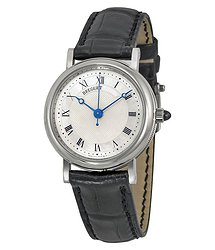 Breguet Classique Mother of Pearl Dial 18kt White Gold Black Leather Ladies Watch 8067BB52964