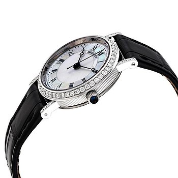 Купить часы Breguet Classique Mother of Pearl Dial 18kt White Gold Diamond Black Leather Ladies Watch 8068BB52964DD00  в ломбарде швейцарских часов