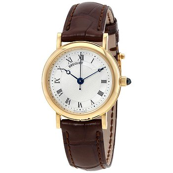 Купить часы Breguet Classique Mother of Pearl Dial 18kt Yellow Gold Brown Leather Ladies Watch 8067BA52964  в ломбарде швейцарских часов