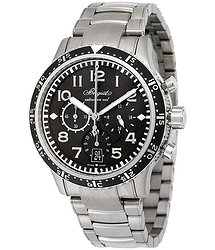 Breguet Type XXI Transatlantique Flyback Automatic Black Dial Titanium Men's Watch 3810TIH2TZ9