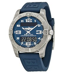 Breitling Aerospace Evo Blue Dial Blue Rubber Men's Watch E7936310-C869BLPT3