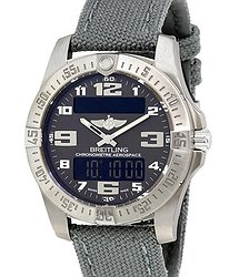 Breitling Aerospace Evo Grey Dial Grey Canvas Men's Watch