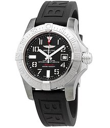 Breitling Automatic Black Dial Black Rubber Men's Watch