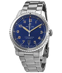 Breitling Avaitor 8 Automatic Chronometer Blue Dial Men's Watch