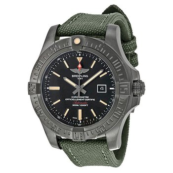 Купить часы Breitling Avenger Blackbird Automatic Black Dial Green Canvas Strap Men's Watch  в ломбарде швейцарских часов