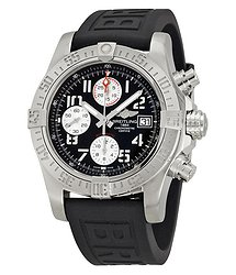 Breitling Avenger II Black Dial Black Rubber Men's Watch A1338111-BC33BKPT3