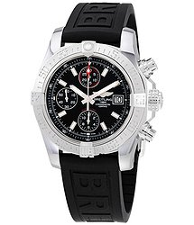 Breitling Avenger II Chronograph Automatic Volcano Black Dial Men's Watch