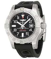 Breitling Avenger II Seawolf Automatic Black Dial Ruber Men's Watch A1733110-BC31BKOR