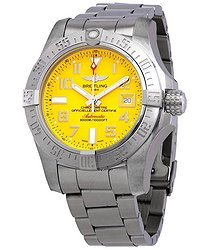 Breitling Avenger II Seawolf Automatic Yellow Dial Men's Watch