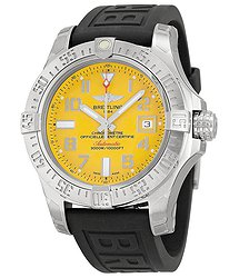 Breitling Avenger II Seawolf Automatic Yellow Dial Rubber Men's Watch A1733110-I519BKPT3