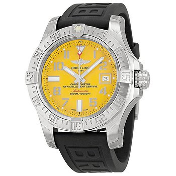 Купить часы Breitling Avenger II Seawolf Automatic Yellow Dial Rubber Men's Watch A1733110-I519BKPT3  в ломбарде швейцарских часов