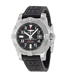 Breitling Avenger II Seawolf Black Dial Black Rubber Automatic Men's Watch A1733110-BC31BKPD3