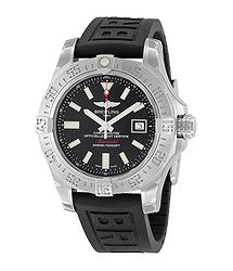 Breitling Avenger II Seawolf Black Dial Black Rubber Automatic Men's Watch