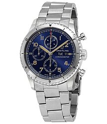 Breitling Aviator 8 Chronograph Automatic Chronometer Blue Dial Men's Watch
