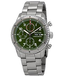 Breitling Aviator 8 Chronograph Curtiss Warhawk Automatic Green Dial Men's Watch
