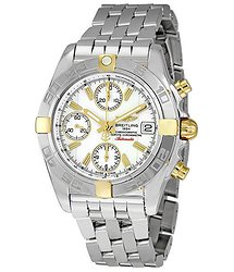 Breitling Chrono Galactic White Dial Chronograph Stainless Steel Men's Watch