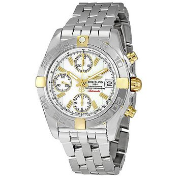 Купить часы Breitling Chrono Galactic White Dial Chronograph Stainless Steel Men's Watch  в ломбарде швейцарских часов