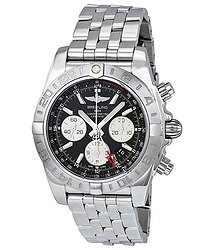 Breitling Chronomat 44 GMT Black Dial Men's Watch AB042011-BB56SS
