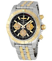 Breitling Chronomat B01 Black Dial Two Tone Men's Watch CB011012-B968TT