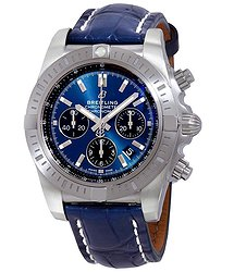 Breitling Chronomat Chronograph Automatic Chronometer Blue Dial Men's Watch