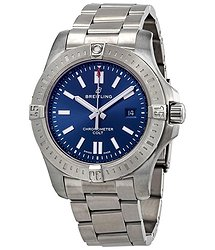Breitling Chronomat Colt Automatic Chronometer Blue Dial Men's Watch