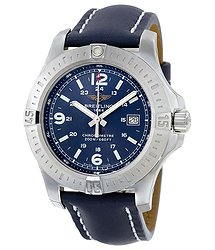 Breitling Colt Blue Dial Blue Leather Men's Watch A7438811-C907BLLT