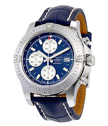 Breitling Colt Chronograph Automatic Blue Dial Blue Leather Men's Watch