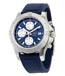 Breitling Colt Chronograph Automatic Blue Dial Blue Rubber Men's Watch