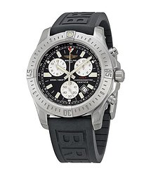 Breitling Colt Chronograph Black Dial Rubber Strap Men's Watch