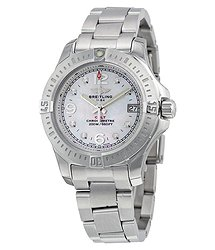 Breitling Colt Lady Mother of Pearl Diamond Watch A7738811-A769SS
