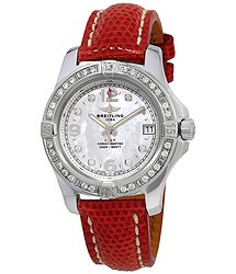 Breitling Colt Mother of Pearl Diamond Dial Ladies Watch