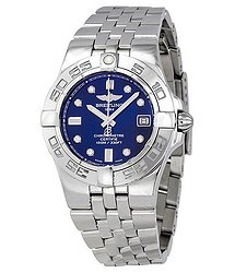 Breitling Galactic 30 Blue Dial Stainless Steel Ladies Watch