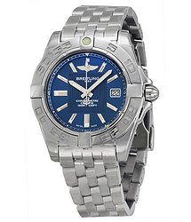 Breitling Galactic 32 Blue Dial Stainless Steel Ladies Watch