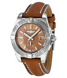 Breitling Galactic 36 Automatic Bronze Dial Brown Leather Unisex Watch