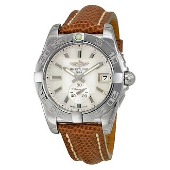 Купить часы Breitling Galactic 36 Automatic Mother of Pearl Dial Brown Lizard Leather Unisex Watch  в ломбарде швейцарских часов