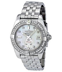 Breitling Galactic 36 Mother of Pearl Dial Diamond Unisex Watch A3733053-A717SS