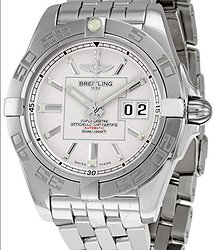 Breitling Galactic 41 Silver Dial Men's Watch A49350L2-G699SS