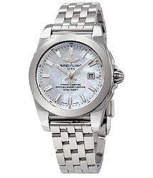Breitling Galactic Mother of Pearl Dial Ladies Watch