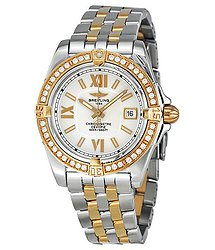 Breitling Lady Cockpit Diamond Rose Gold and Stainless Steel Ladies Watch C7135653-G650TT