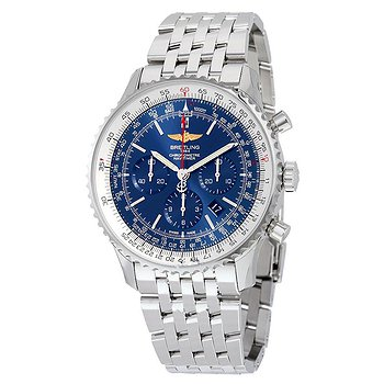 Купить часы Breitling Navitimer 01 46MM Chronograph Aurora Blue Dial Stainless Steel Men's Watch AB012721-C889SS  в ломбарде швейцарских часов