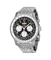 Breitling Navitimer 01 Black Dial Stainless Steel Men's Watch