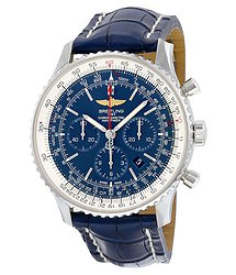 Breitling Navitimer 01 Chronograph Automatic Blue Dial Blue Leather Men's Watch AB012721-C889BLCD