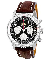 Breitling Navitimer 01 Stainless Steel Leather Automatic Men's Watch