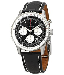 Breitling Navitimer 1 Black Chronograph Dial Automatic Men's Croco Leather Watch